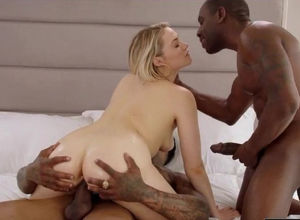 2 meaty ebony boners demolish Mia's..